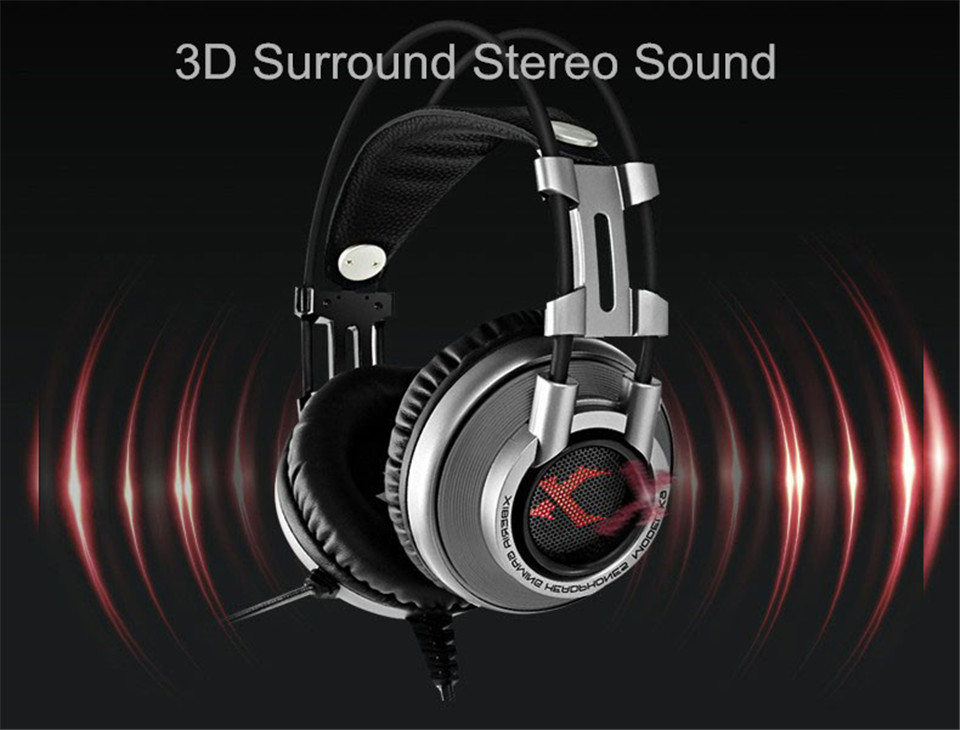 XIBERIA K9 Virtual 7.1 Sound Gaming Headset casque Best PC Gamer USB Stereo Bass Headphones with Microphone for Cumputer Game (5)