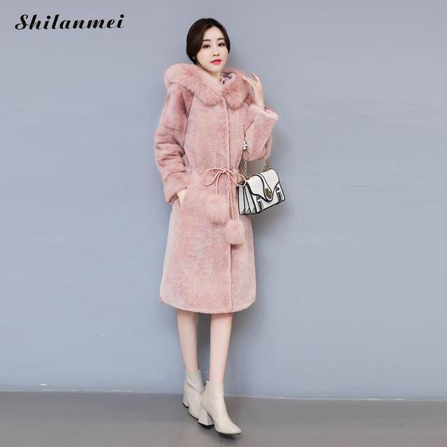 779a8b678904 Elegatn femmes en fausse fourrure manteau d hiver long manteau de fourrure  longue manches à