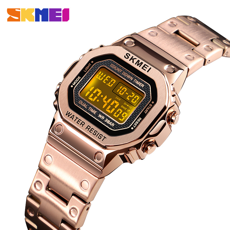 <font><b>SKMEI</b></font> Fashion Women Digital Watch Chronograph Alarm Stopwatch Calendar Sport Watches Ladies Girl Wristwatch Relogio Feminino image