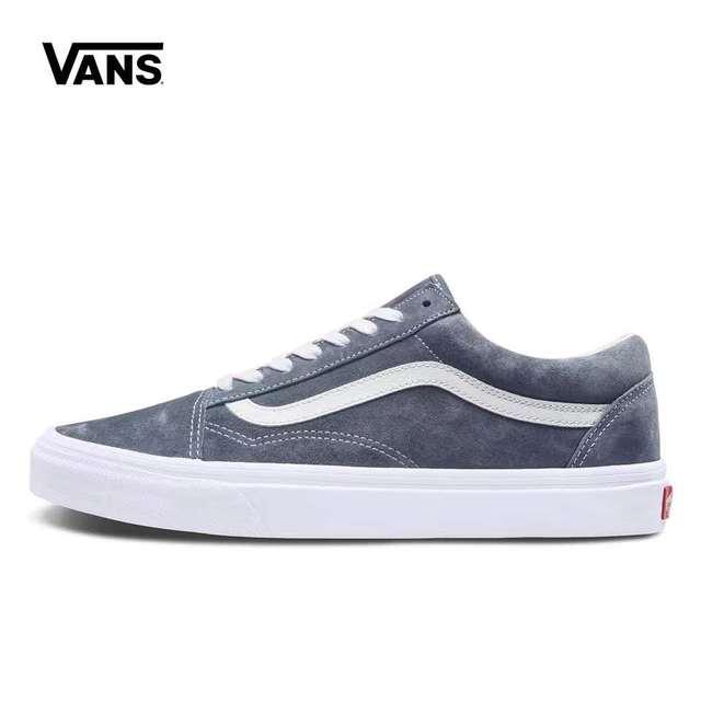 c12647dbc97d Vans Old Skool Sneakers Low Trainers Men Sports Skateboarding Shoes Flat  Breathable Classic Canvas Low brown Vans Shoes Women