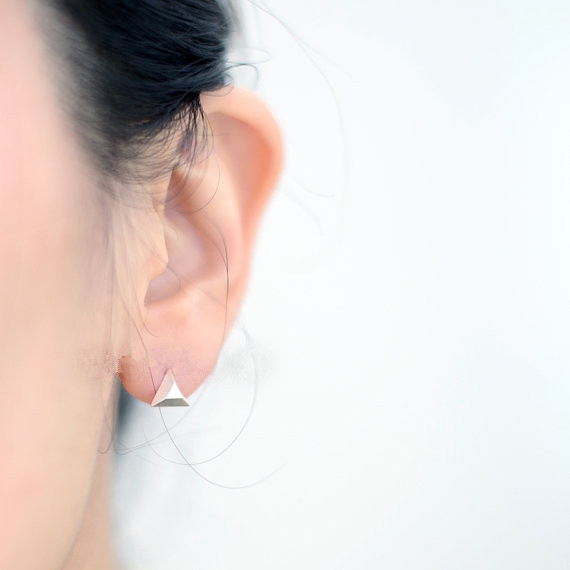 Fashion Geometry Triangle Earrings Triangular Pyramid Stud For Women Whole Free Shipping In From Jewelry Accessories On