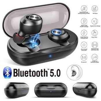 TWS Earphones Mini Wireless Bluetooth 5.0 Headphone Auto Pairing HiFi 15H Playtime Stereo Wireless Earbuds with Charging Box