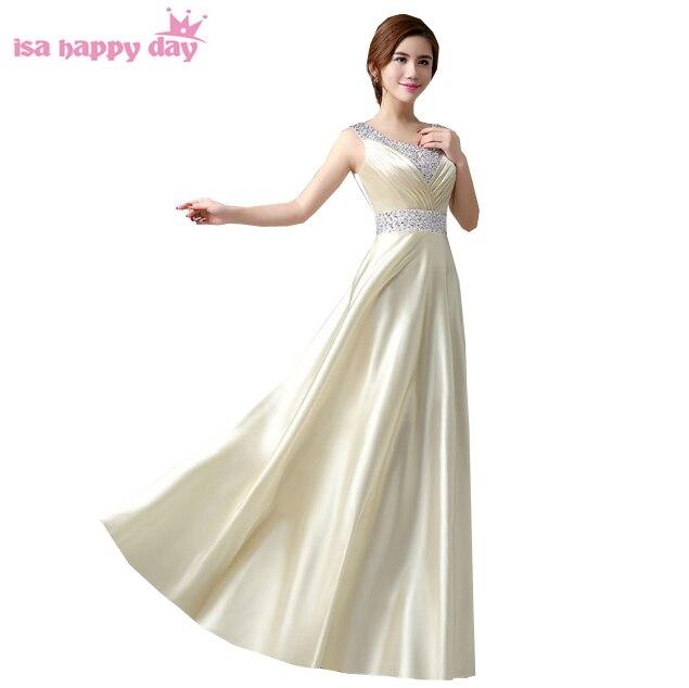 modest eggplant sequin paillette vestidos de festa floor length a line bridesmaid brides maid dresses bridemaid dress 2020 B118