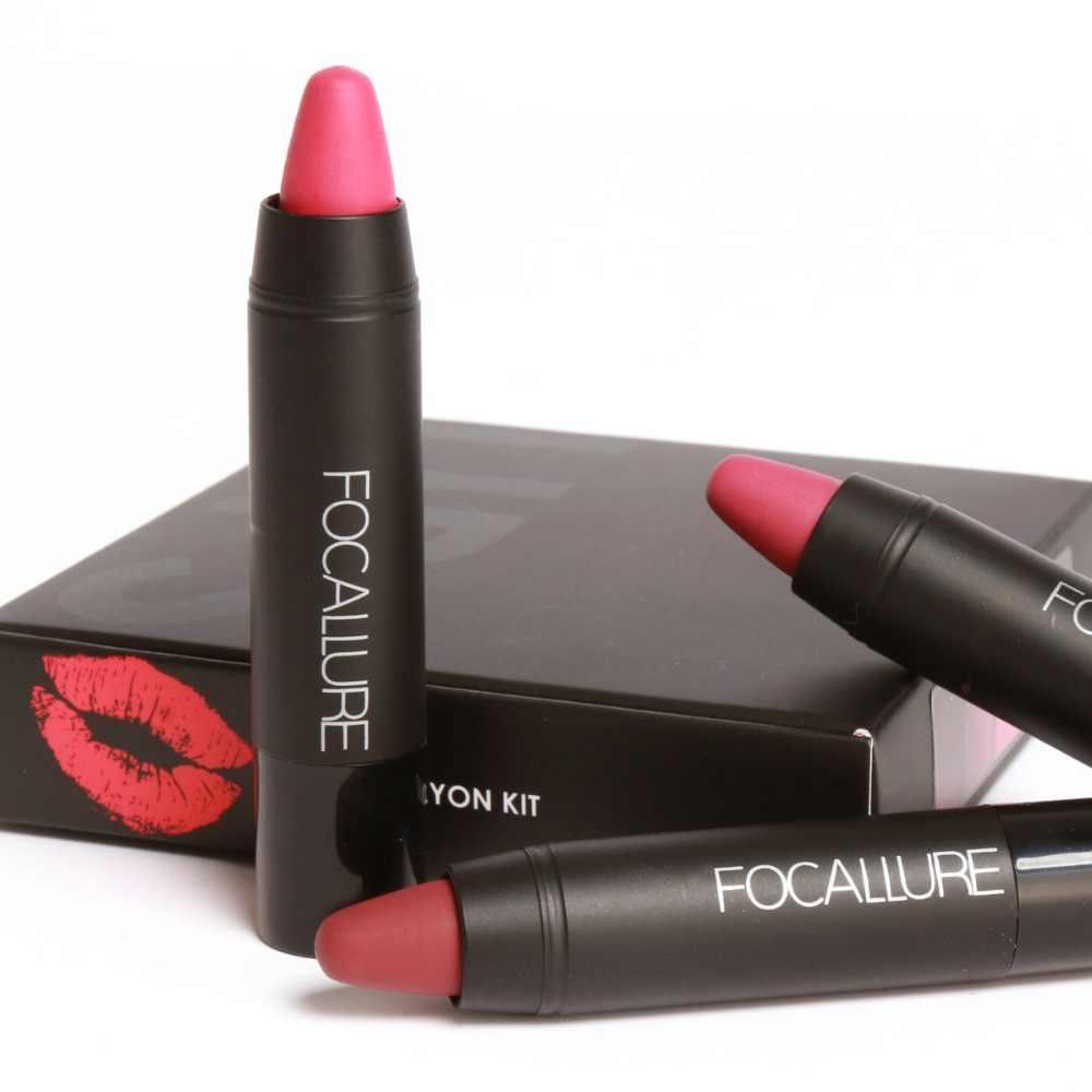 Kosmetik Lip Cair Tahan Lama Pensil Matte Lipstik Lip Gloss Makeup kosmetik makeup merek Focallure