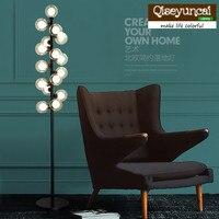 Qiseyuncai Nordic simple creative American iron decoration living room bedroom study restaurant cafe glass ball floor lamp