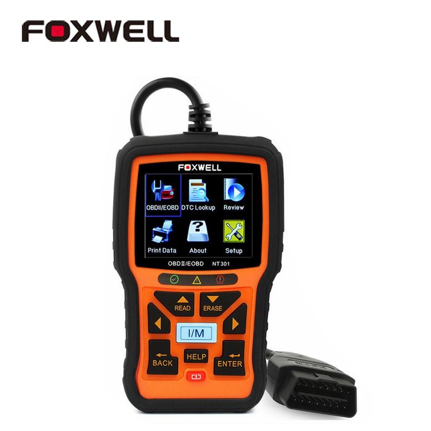 ФОТО Foxwell NT301 OBD2 EOBD Car Fault Code Reader Auto Diagnostic Scanners Automotive Tool OBD 2 Error Scan Automotivo Universal New