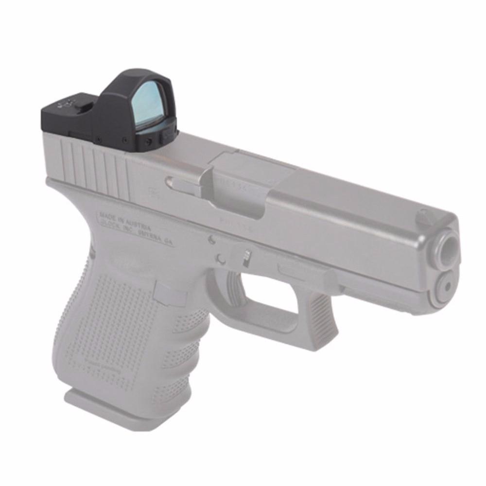 Vector Optics Tactical Pistol Glock Mini Reflex Green Dot Sight Scope / 5 Levels 3 MOA Dot vector optics tactical harrie 1x22 mini red dot scope reflex pistol weapong gun sight with 21mm picatinny mount base