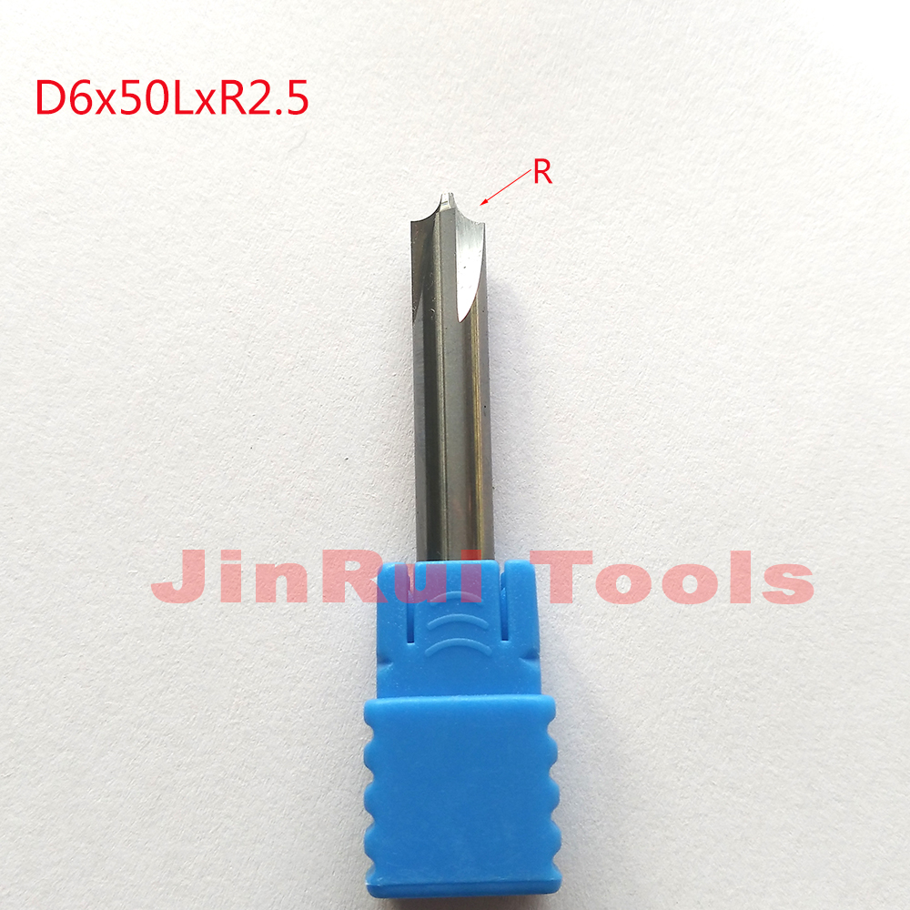 1pc  D6*50L*R2.5 HRC50 4 Flutes corner rounding cutters  Chamfer route bits for Aluminum knife tools thermostat housing assembly yu3z8a586aa 902204 yu3z8a586 97jm9k478ae for d explore r 4 0l v6 for d range r