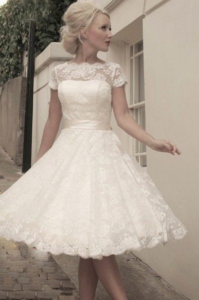 Short Wedding Dresses Cap Sleeves Best Dress 2017