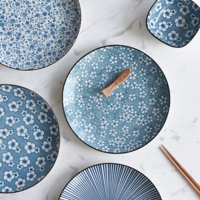 Giapponese piatti piatto ceramica da tavola la cena stoviglie in porcellana t cucina per il - Maniglie porcellana cucina ...