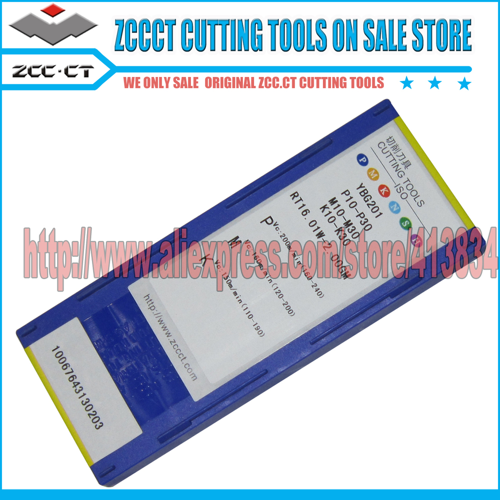 RT16 01W 2 00GM YBG201 10 pcs Lot PVD Coating ZCCCT Cemented Carbide CNC Threading inserts