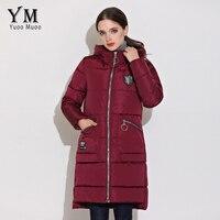 YuooMuoo New 2017 High Quality Winter Coat Women Casual Warm Hooded Medium Long Jacket Winter Windproof