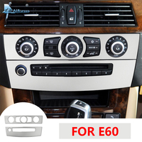Airspeed for BMW E60 Accessories BMW E60 Stickers for BMW E60 M5 Interior Trim AC CD Frame Knob Center Console Panel Sticker