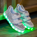 Children Fly Wings Woven Rechargeable Colorful LED Lighting Shoe Kid Sneaker for Boys and Girls Fashion Boys Shoe Cute Girl Shoe