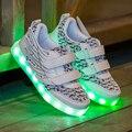 Crianças Voar Asas Tecidas Recarregável Iluminação Colorida LEVOU Sapato Criança Meninos Sapato Sneaker para Meninos e Meninas Da Moda Bonito Da Menina sapato