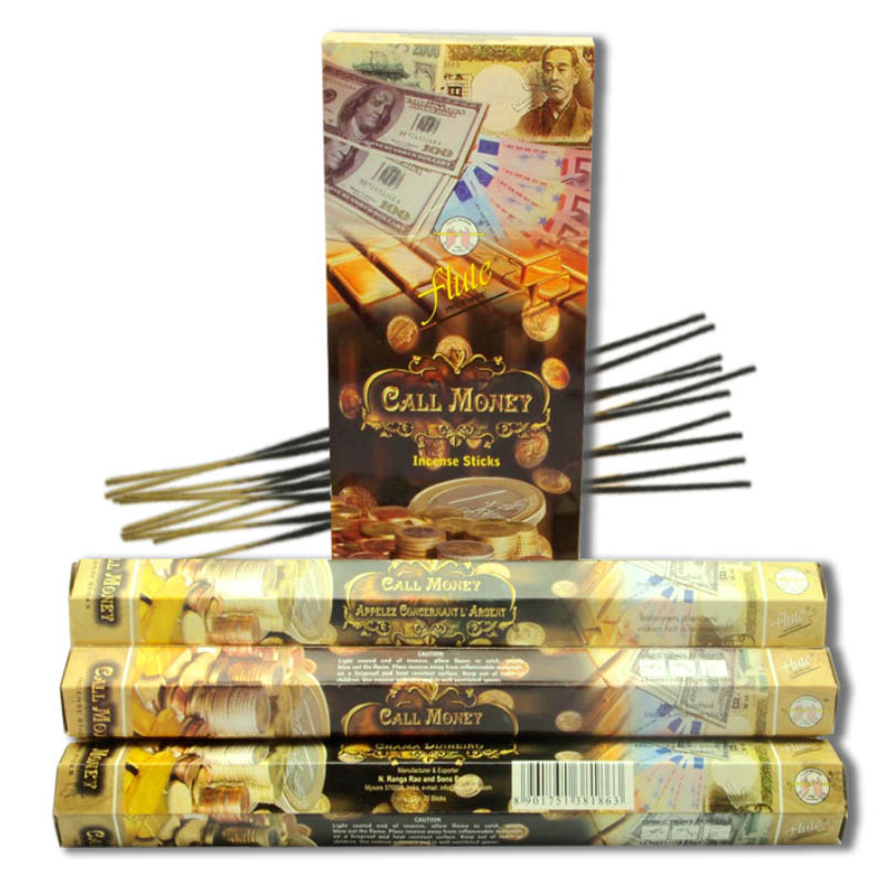 120 Sticks/Pack Call Money Luck Cored Incense Sticks Handmade From Indian Burning in Tea House For Yoga