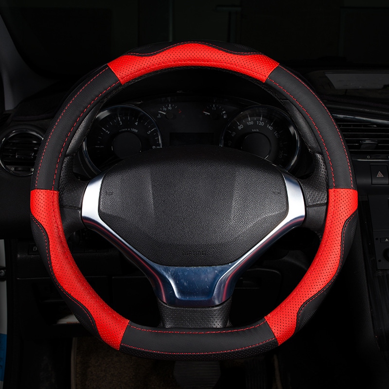 Steering-Wheel Car Covers 38cm PU leather Car Steering Wheel Cover Steering wheel covers Car interior accessories
