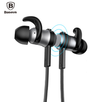Baseus Magnetic Bluetooth Earphone Sport Wireless Running Headset With Mic For IPhone 7 6 Samsung S8