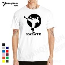YUANQISHUN High Quality T-Shirts Karate Printed T Shirt Cotton Short Sleeve T-Shirts Casual Cool Men Clothing Tops Tees XS-3XL