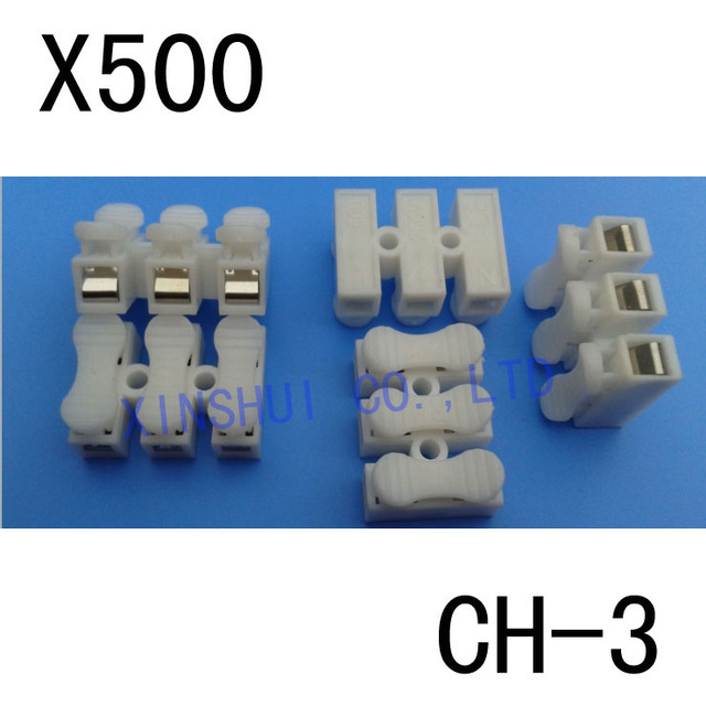 500pcs 3pin ch3 quick connector cable clamp terminal block spring rh aliexpress com Electrical Quick Connectors electrical wiring connectors quick disconnect