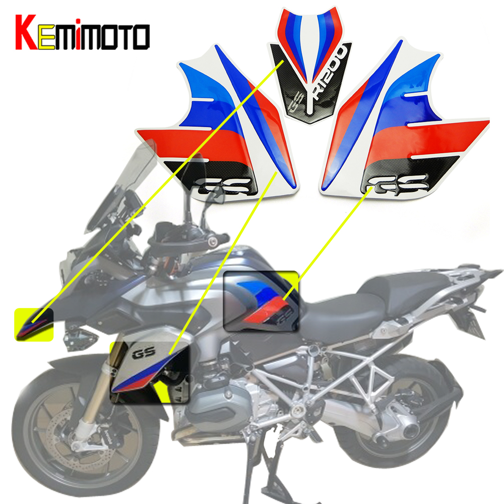 KEMiMOTO For BMW R1200GS Whole Vehicle Decals Stickers Fit For BMW R1200 GS 2013 2014 2015 2016 r 1200 gs after market