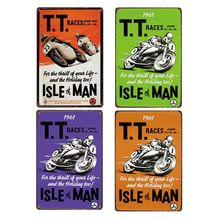 Motorcycle Poster Club Decoration Tin Signs Vintage Metal Plate Retro Plaque Cafe Bar Wall Decorative Home Decor 20x30 cm(China)