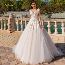 Loverxu Sexy Wedding Dresses 2019 Cap Sleeve Court Train