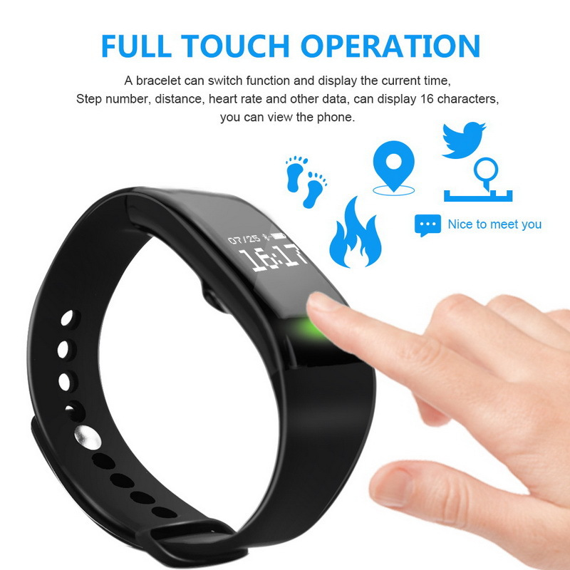DOITOP Sleep Tracker Wristwatch Band Smart Fitness Heart Rate Monitor Bracelet Sports Ca ...