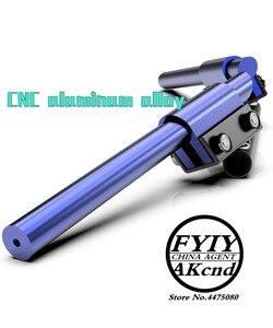 Image 3 - Universal 7/8 22mm CNC Aluminum Motorcycle Handlebar Handle bar For yamaha honda suzuki kaeasaki