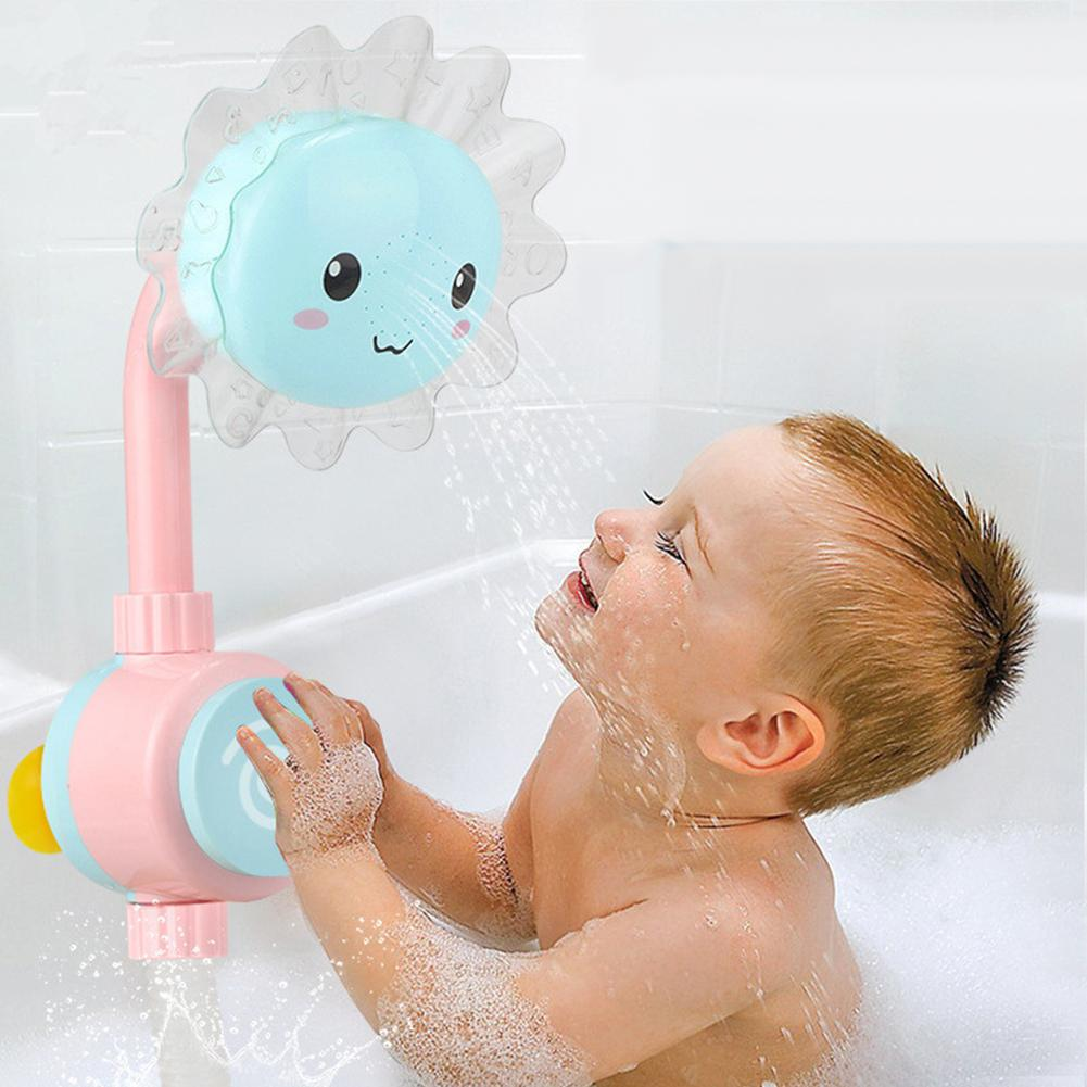 Fashion Lovely Sunflower Kids Baby Shower Faucet Spout Bathing Water Play Sprinkler Toy