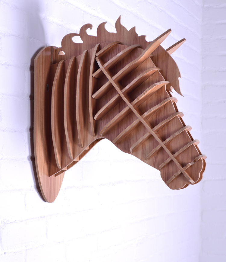 Wooden horse wall decoration crafts horse animals head for Wooden horseshoes for crafts