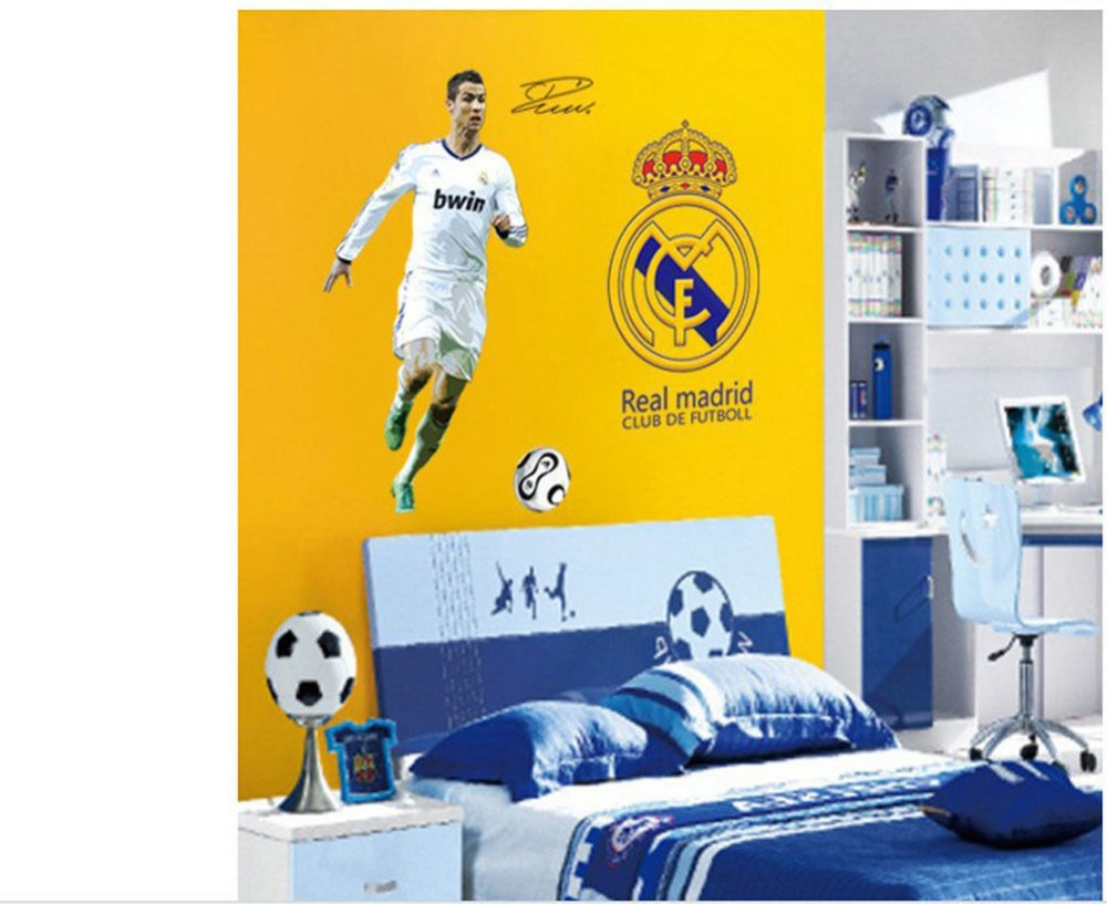 Football Player Cristiano ronaldo Wall Stickers Wall Decals Stickers ...