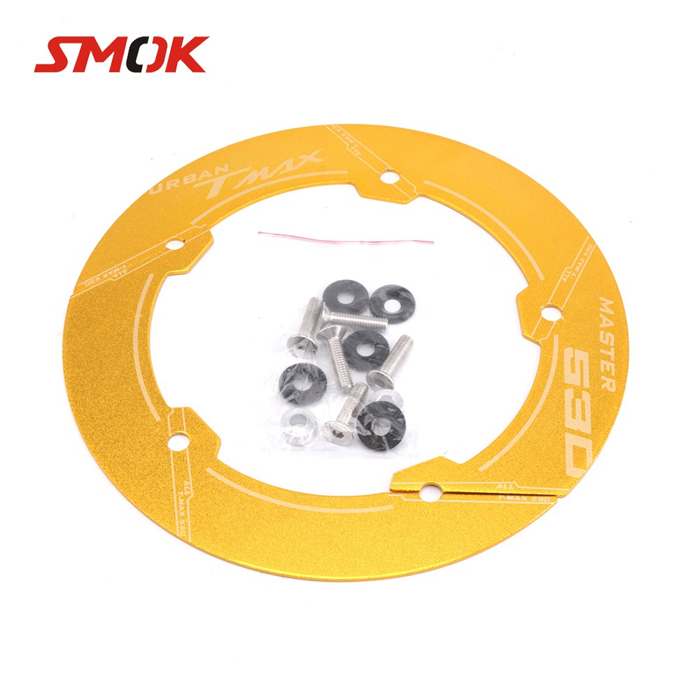 SMOK Motorcycle CNC Aluminum Alloy Accessories Transmission Belt Pully Cover For Yamaha TMAX <font><b>530</b></font> <font><b>T</b></font> <font><b>MAX</b></font> <font><b>530</b></font> <font><b>2017</b></font> 2018 image