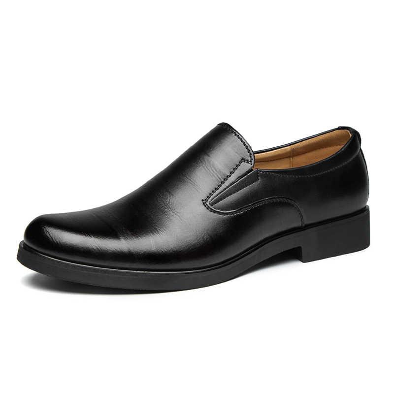 DXKZMCM รองเท้าอย่างเป็นทางการผู้ชายรองเท้ารอบ Toe Men รองเท้าหนังผู้ชาย Oxford รองเท้าสำหรับผู้ชายแฟชั่นรองเท้า