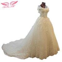 SH AnXin Promocyjne Koreański koronka frezowanie suknia ślubna suknia ślubna Księżniczka luksusowe kryształ diament 100% Prawdziwe Zdjęcia QSYS544