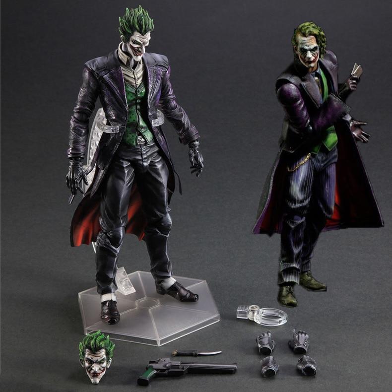 PLAYARTS KAI TOYS Joker NECA play arts figma Batman dark knight arkham city Superman DC marvel PVC Figure collectible Model batman arkham city набор фигурок batman vs bane 2 шт