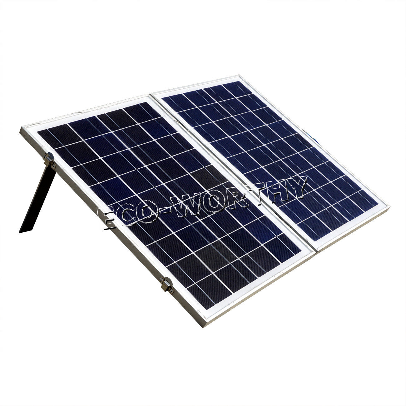 Eco-worthy 50W Foldable Folding Poly Solar Panel Portable Complete Kit for 12V Camping Boat RV portable outdoor 18v 30w portable smart solar power panel car rv boat battery bank charger universal w clip outdoor tool camping