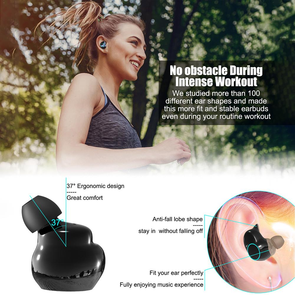 Image 2 - 3D Stereo Sound Earphone For ONIKUMA TWS T3 Bluetooth Headset 5.0 Double Ear Waterproof Wireless Sport Earbuds With Charging Bin-in Bluetooth Earphones & Headphones from Consumer Electronics