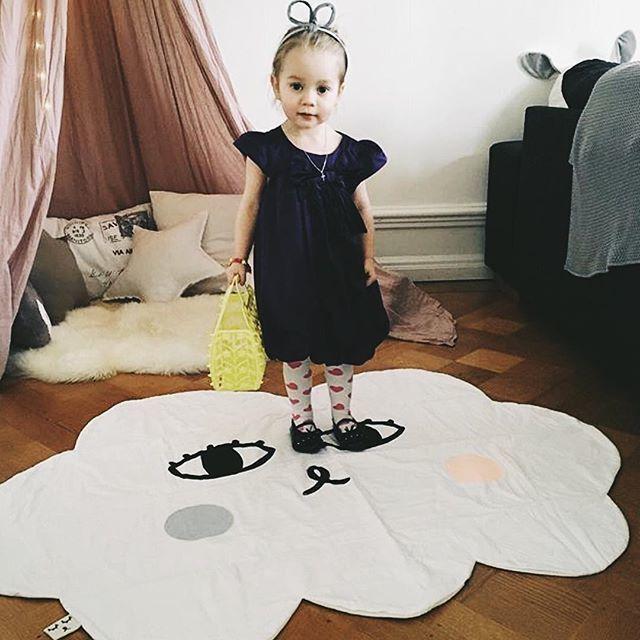 Мультфильм улыбка облако детское одеяло хлопок пеленать меня ползать коврик для игр Ковры играть Коврики Детская комната украшения Постел...