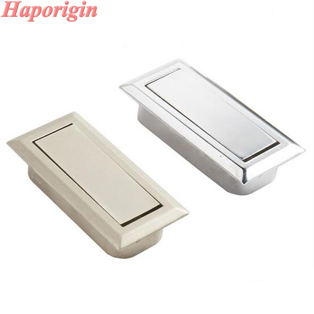 4x Kitchen Cabinet Drawer Concealed Handles Embedded Furniture Door Knobs Wardrobe Stealth Handle Cupboard Closet Dresser Pulls