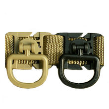 2pcs/Lot Tactical 360 Degree Rotation D-ring Clips MOLLE Webbing Attachment for Backpack Pouches Plastic Clamp Outdoor EDC Kit(China)