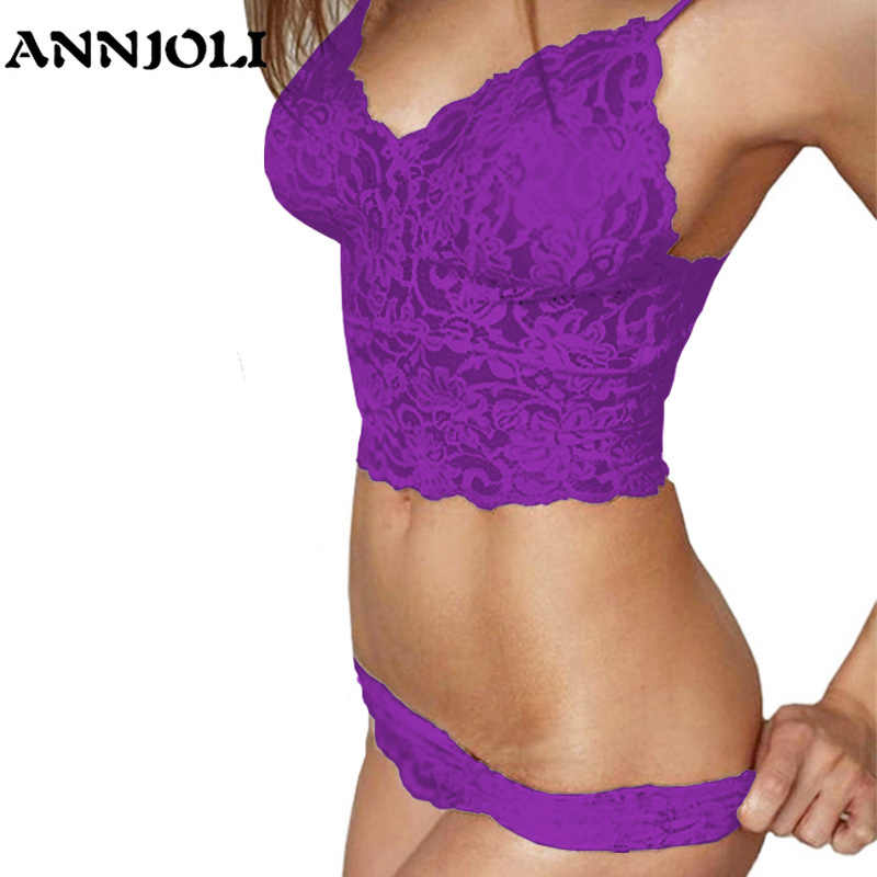 a3f3a28a6f Detail Feedback Questions about ANNJOLI Plus Size 5XL Women Sexy Corset  Hollow Lace See through Push Up Cami Bra Top and Panties Underwear Lingerie  Set 4 ...