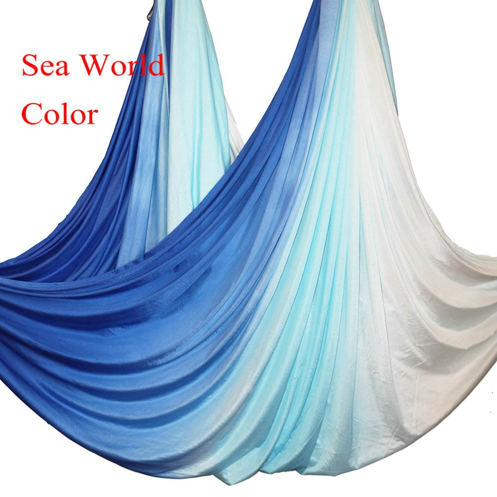 2019 Anti Gravity Aerial yoga hammock fabric Silk Flying Yoga Swing Bed Aerial Traction Device Fitness