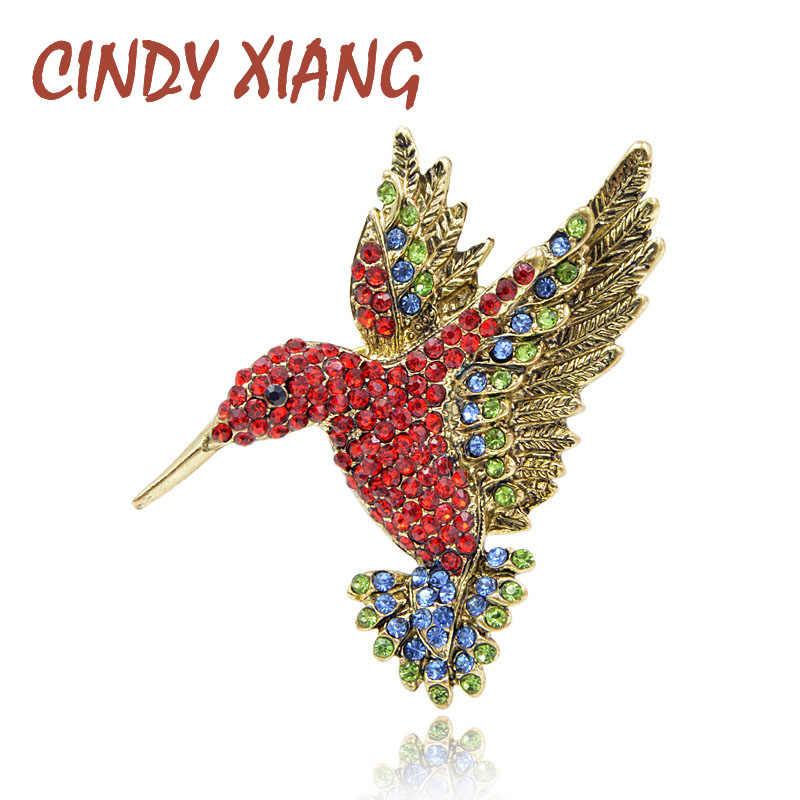 Nước Hoa Nữ CINDY Tương Đỏ Màu Đá Chim Ruồi Thổ Cẩm Nữ Dễ Thương Chim Phong Cách Trang Sức Động Vật Cài Áo Cao Cấp Chất Lượng Tốt Quà Tặng