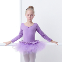 Girls Baby Lovely Long Sleeve Princess Dress Cotton Round Neck Ballet TuTu Child Kids Pink Ballet