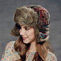 Kenmont Winter Women Girl Lady Faux Fur Earflap Aviator Trapper Bomber Hat Russia Ski Cap 2310