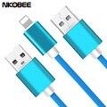 Nkobee cargador usb cable para iphone 7 6 6 s más 5 5S sí ipad 4 Aire 2 iOS para 8 Pin relámpago USB de Sincronización de Datos Del Cargador Del Teléfono Móvil