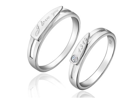 solitaire twin sterling ring asp p rings silver cz band