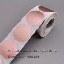 Pegatinas redondas para rascar, Color oro rosa, 40mm x 40, 500 Uds., para billetes, favores de juegos promocionales