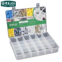 LAOA 24 единицы коробка для хранения деталей плюс части коробки с отсеками Драгоценности случае размер 272*185*43 мм